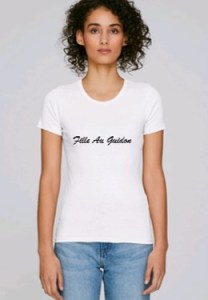 tee shirt fille au guidon pour motarde