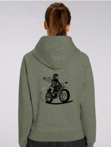 sweat motarde à capuche à offrir en cadeau de noel motarde cet hiver 2019