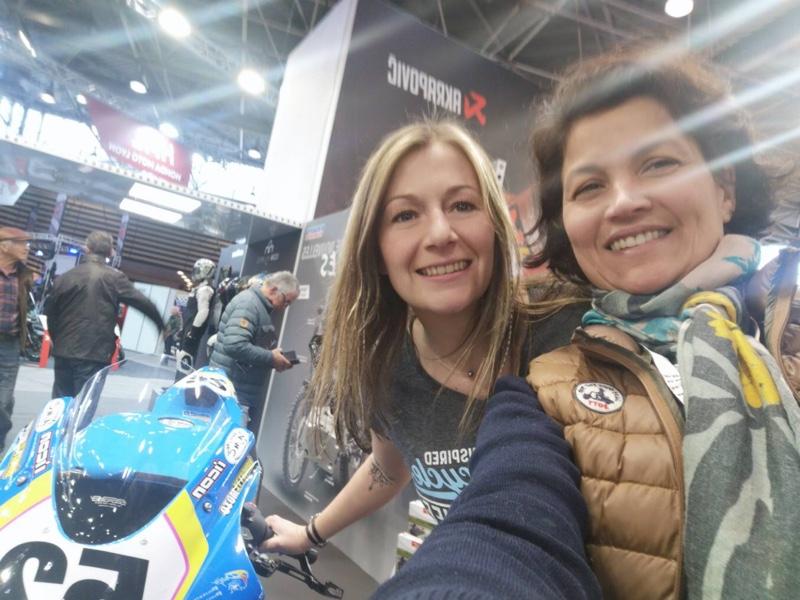 La pilote moto Française Margaux Wanham etait sur la salon du deux roues de Lyon 2020