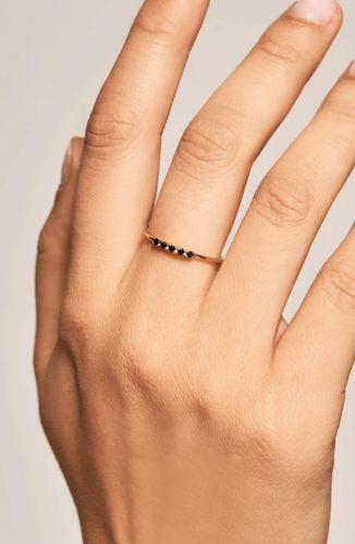 PD Paola Ring – Misty Zwart Goud