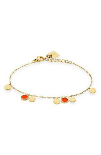 ZAG Bijoux Armband – Rode muntjes Goud