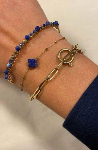 ZAG Bijoux Armband – Boho Blauw Goud