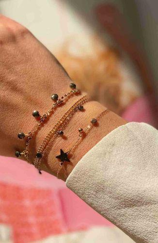 ZAG Bijoux Armband – Grijze Pyrite Bedeltjes