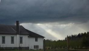 4-8-15 dark clouds and sunbeam