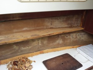 Port side cabin wall