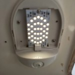 LED lights inside new fixture