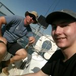 Mike and Scott sailing