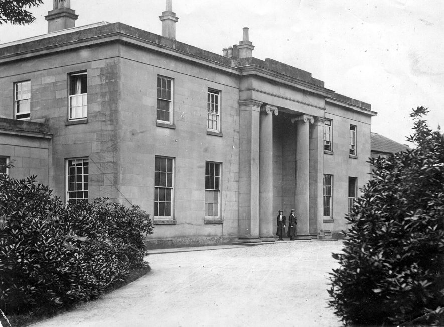 Fillongley Hall - Exclusive Midlands Wedding Venue - Historic black & white photo of the front elevation