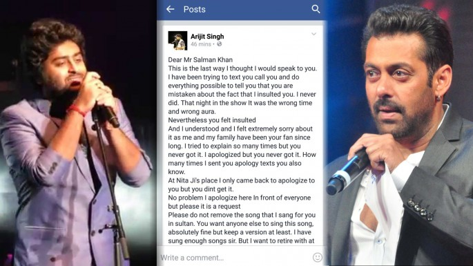 Arijit Singh apologizes to Salman Khan on Facebook | Why?? What Happened?? All you need to know!