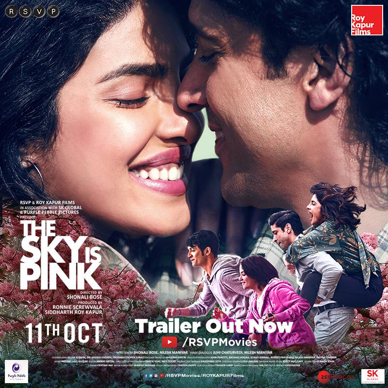 The Sky Is Pink – Official Trailer | Priyanka Chopra Jonas – Farhan Akhtar – Zaira Wasim – Rohit S | Shonali B | Oct 11