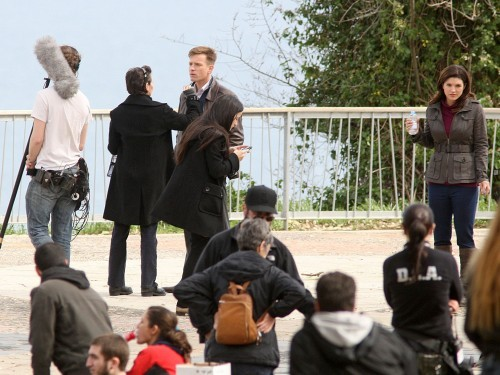 Ewan McGregor Gina Carano Haywire 2011 Set Photos 23