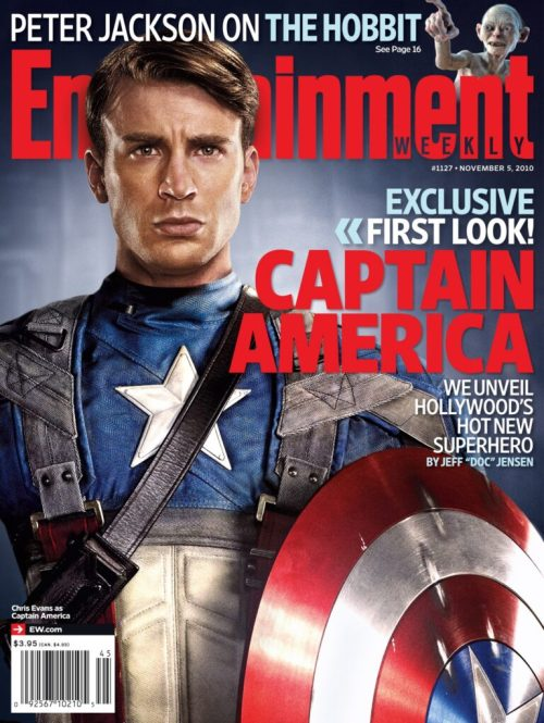 Chris Evans, Captain America: The First Avenger, Entertainment Weekly November 2010 Cover