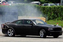 Fast Five, 2011, black car peeling out, 01