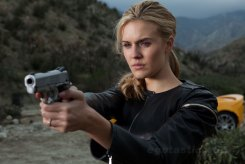 Maggie Grace, Faster, 2010, Black Leather, Gun, 02
