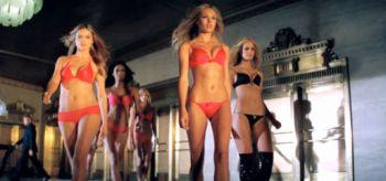 Adriana Lima, Candice Swanepoel, Victoria's Secret Christmas Commercial 2010