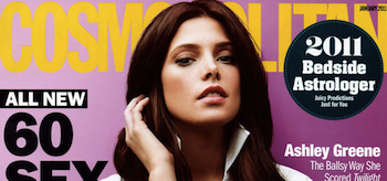 Ashley Greene, Cosmopolitan Magazine, January 2011 header