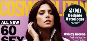 Ashley Greene, Cosmopolitan Magazine, January 2011 header
