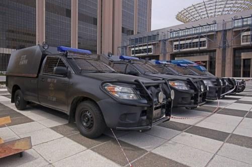 Mega-City One, Justice Department Trucks, Dredd, 2012, 01