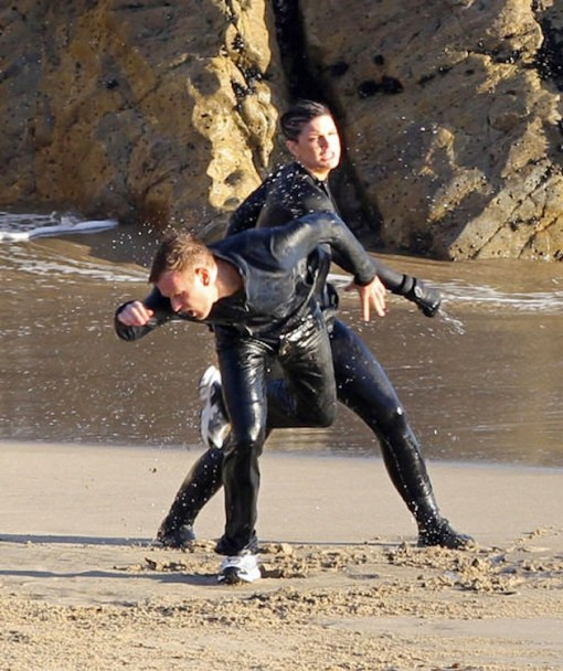 Ewan McGregor, Gina Carano, Beach Fight, Haywire, 01