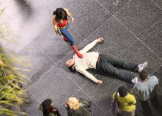 Adrianne Palicki stunt double, needle, Wonder Woman 2011 Set Photo, 02