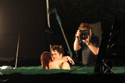 Kristen Stewart, Robert Pattinson The Twilight Saga: Breaking Dawn, St. Thomas Set