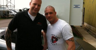 Tom Hardy, The Dark Knight Rises Set