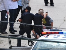 Jake Gyllenhaal, Michael Pena, End of Watch, Los Angeles Set Photo, 04