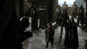 Michelle Fairley, Peter Dinklage, Ron Donachie, Jerome Flynn, Kate Dickie, Game of Thrones, The Wolf and the Lion, 02
