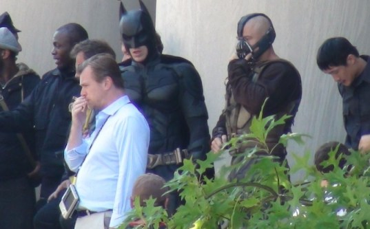 Christian Nolan, Tom Hardy, Christian Bale, The Dark Knight Rises, Mellon Institute Set, 01