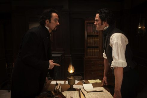 John Cusack, Luke Evans, The Raven, 2012, 02