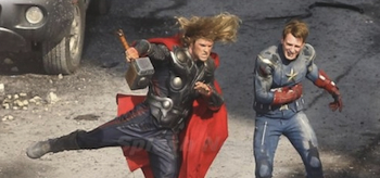 Chris Hemsworth, Chris Evans, The Avengers 2012, Set 03