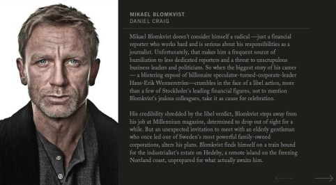 Daniel Craig, The Girl With the Dragon Tattoo 2011, Mikael Blomkvist Character Profile