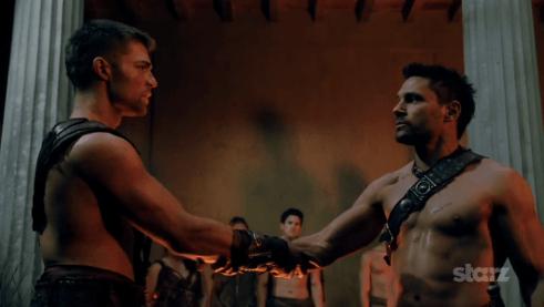 Liam McIntyre, Manu Bennett, Spartacus Vengeance, 05