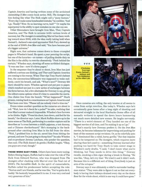 The Avengers Entertainment Weekly October 2011 article, 03