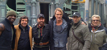 Chuck Norris, Dolph Lundgren, Terry Crews, The Expendables 2, 02