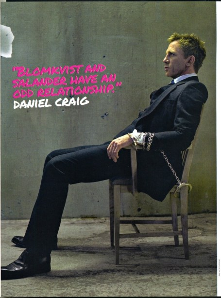 Daniel Craig, The Girl with the Dragon Tattoo, Empire Magazine November 2011