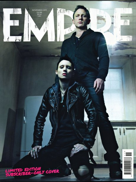 The Girl with the Dragon Tattoo, Empire Magazine November 2011 Exclusive Cover