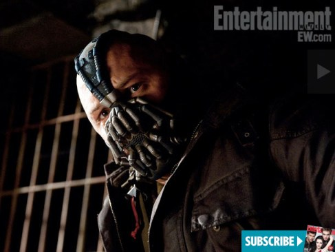 Tom Hardy, Bane, The Dark Knight Rises, Entertainment Weekly