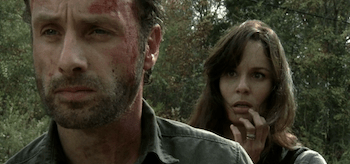Andrew Lincoln Sarah Wayne Callies The Walking Dead Beside the Dying Fire
