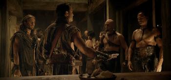 Dustin Clare, Nick Tarabay, Steve Dunlevy, Spartacus: Vengeance, Sacramentum
