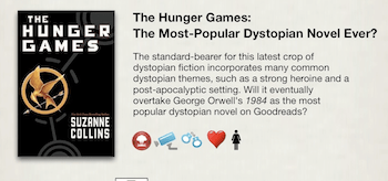The Dystopian Timeline to The Hunger Games Infographic