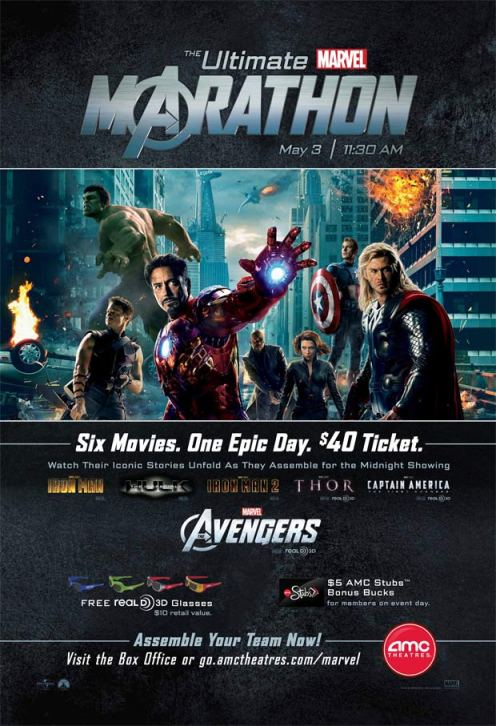 The Ultimate Marvel Marathon Poster