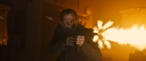 Daniel Craig Skyfall Firing Rifle