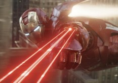 Iron Man flying The Avengers