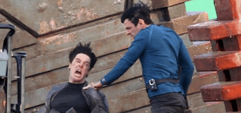 Benedict Cumberbatch Zachary Quinto Star Trek 2