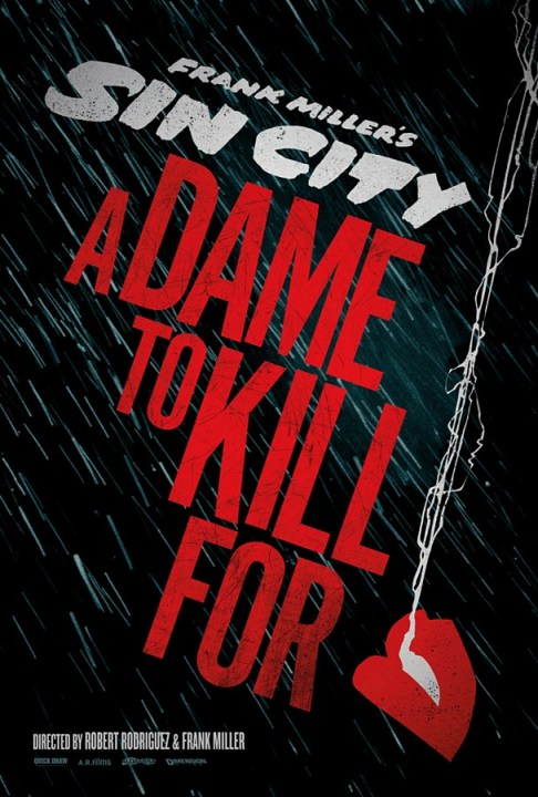 SIn City A Dame to Kill Teaser Poster