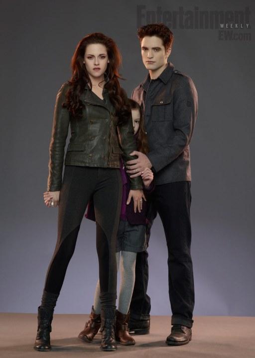Kristen Stewart Robert Pattinson Mackenzie Foy Twilight Saga Breaking Dawn Part 2 Entertainment Weekly