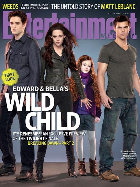 Kristen Stewart Robert Pattinson Taylor Lautner Mackenzie Foy The Twilight Saga Breaking Dawn Part 2 Entertainment Weekly Cover