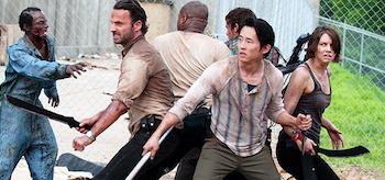 Andrew Lincoln Lauren Cohan Steven Yeun Norman Reedus IronE Singleton The Walking Dead Prison