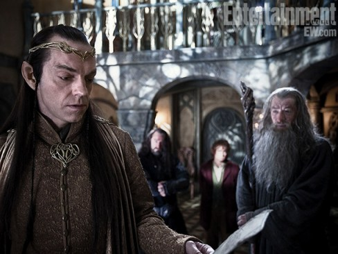 Ian McKellan Hugo Weaving The Hobbit An Unexpected Journey Entertainment Weekly